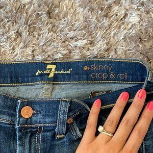 7 For All Mankind Jeans - 7 for all mankind Jeans/ The Skinny Crop &Roll